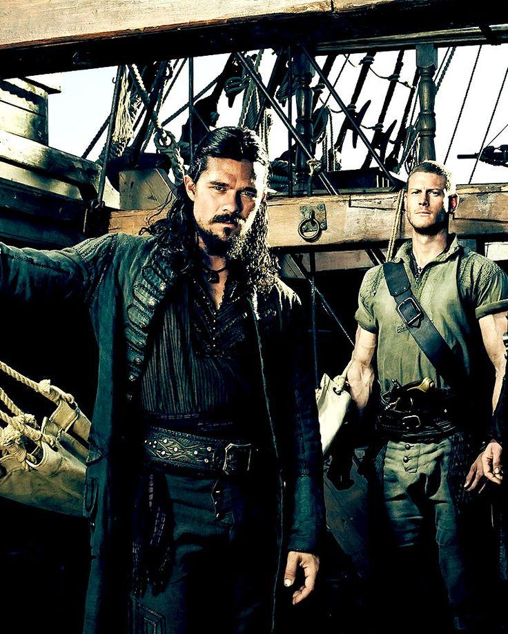 Luke Arnold & Tom Hopper (Black Sails Season 3). Well hello!! Am looking forward to watching Season 3 now *ahem*, haha.