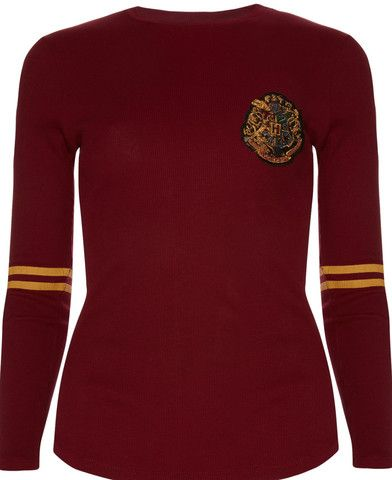 PRIMARK HARRY POTTER GRYFFINDOR QUIDDITCH Burgundy T Shirt Tee Top 6-20 - Click. Buy. Love.