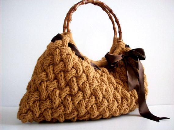 Knit bag NzLbags Handmade  Handbag  Shoulder Bag  by NzLbags, $85.00