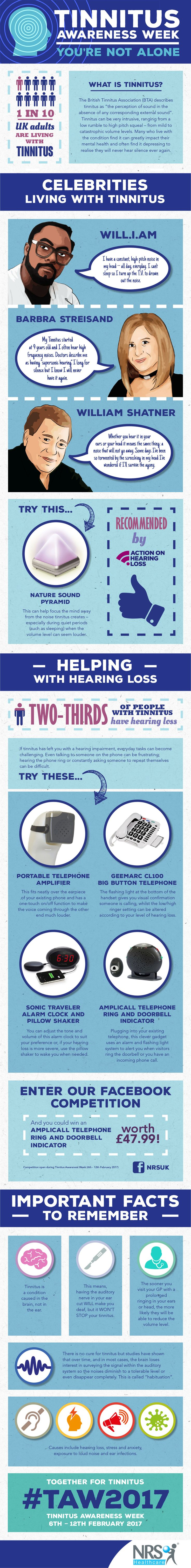 Awesome information on Tinnitus in support of Tinnitus Awareness Week #TAW2017