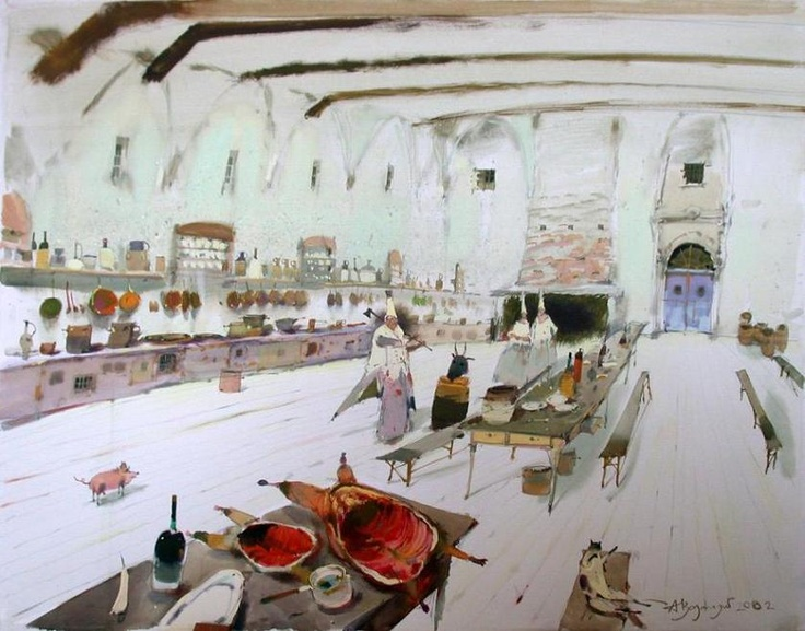 "Alex Votsmush ""Kitchen"" Watercolor"
