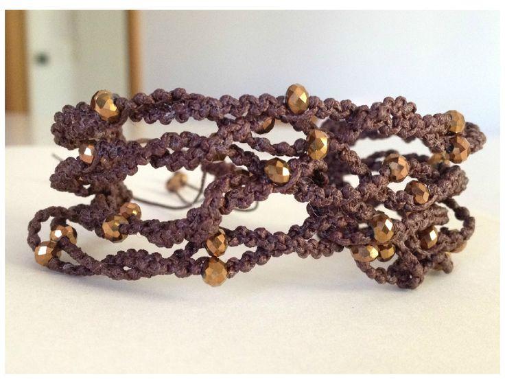 New style for my macramè bracelet hand made .