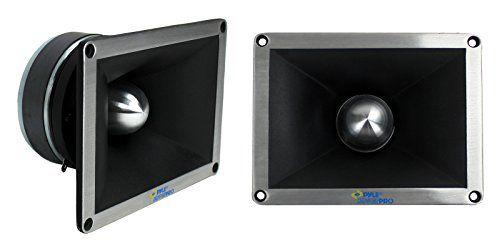 "2) NEW PYLE PRO PDBT78 2"" 1400 Watt Super Titanium Bullet Horn DJ Audio Tweeters #carscampus"