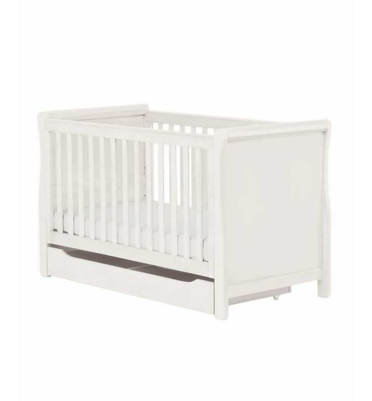Mothercare Chiltern Sleigh Cot Bed- White-purchased