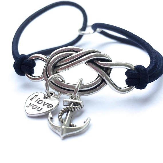 Fallen Heros Love You Navy Anchor Forget Me Knot Commemorative