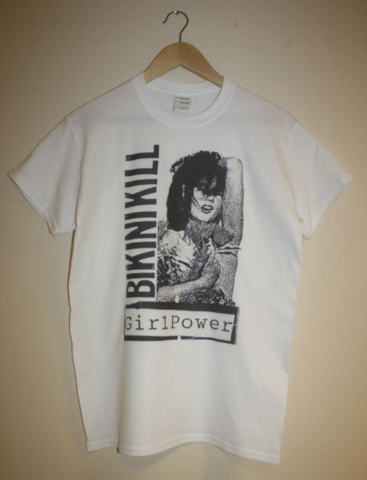 Bikini Kill T-Shirt punk rock riot grrrl kathleen hanna feminist Revolution Girl Style Now! le tigre hipster hardcore S M L XL by 88andSafari on Etsy https://www.etsy.com/listing/224274492/bikini-kill-t-shirt-punk-rock-riot-grrrl