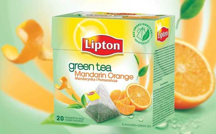 Lipton Green Tea Mandarynka Pomarańcza