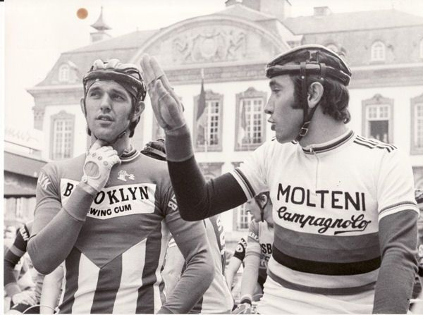 Roger De Vlaeminck and Eddy Merckx. The coolest dudes in cycling with iconic jerseys!: