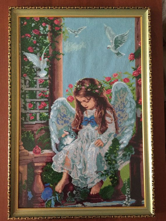 Finished/сompleted cross stitch Home decoration by NattikStudio