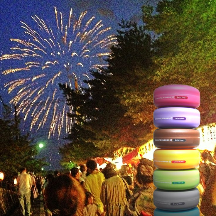 It's summer, it's festival time in Japan! Both fireworks and GATSBY MOVING RUBBER are colorful at the festival.