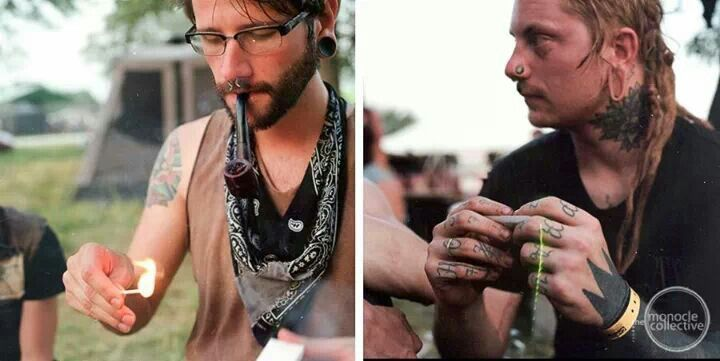 Dreadlocks And Tattoos Gutter Punks Tattoos Hand