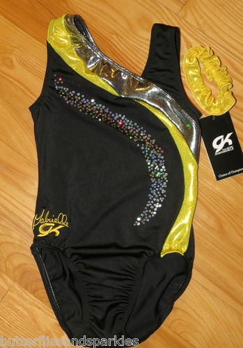 New Gabby Douglas GK Elite Gymnastics Leotard Size Girls Child Medium C M Cm | eBay I want it