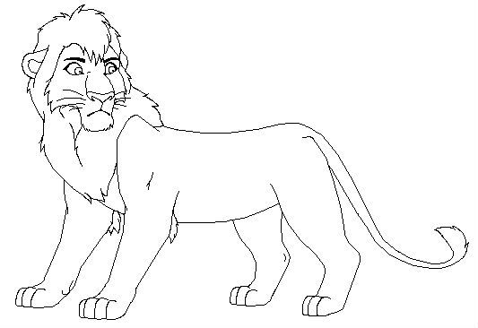 Lion King Kovu And Kiara Coloring Pages Sketch Coloring Page