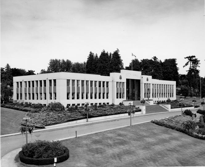 City Hall (currently in use as the City of New Westminster's City Hall), opened 1953