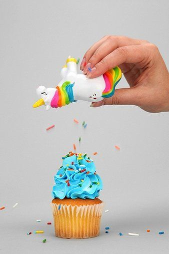 Unicorn sprinkle shaker. Got this for my friend, Samantha Jane. We have a running joke about unicorns.