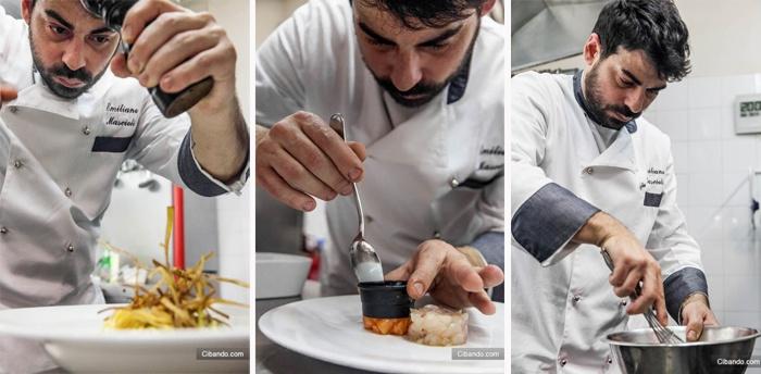 Chef Emiliano Mascioli dei Ristorante Sugo Vino e Cucina di Roma in zona Prati pranzo, cena e aperitivo di classe - sugo
