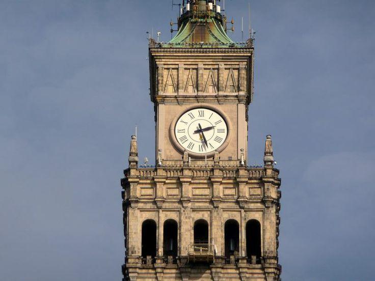 Zegar Milenijny na wieży Pałacu Kultury i Nauki