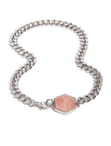 Rose Quartz Pendant Silver