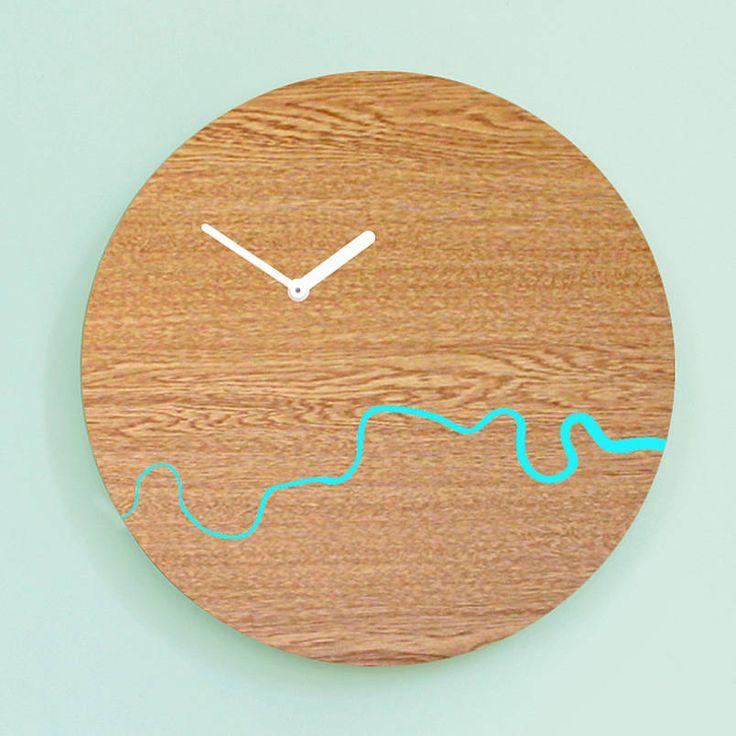 wooden thames clock by bloq | notonthehighstreet.com