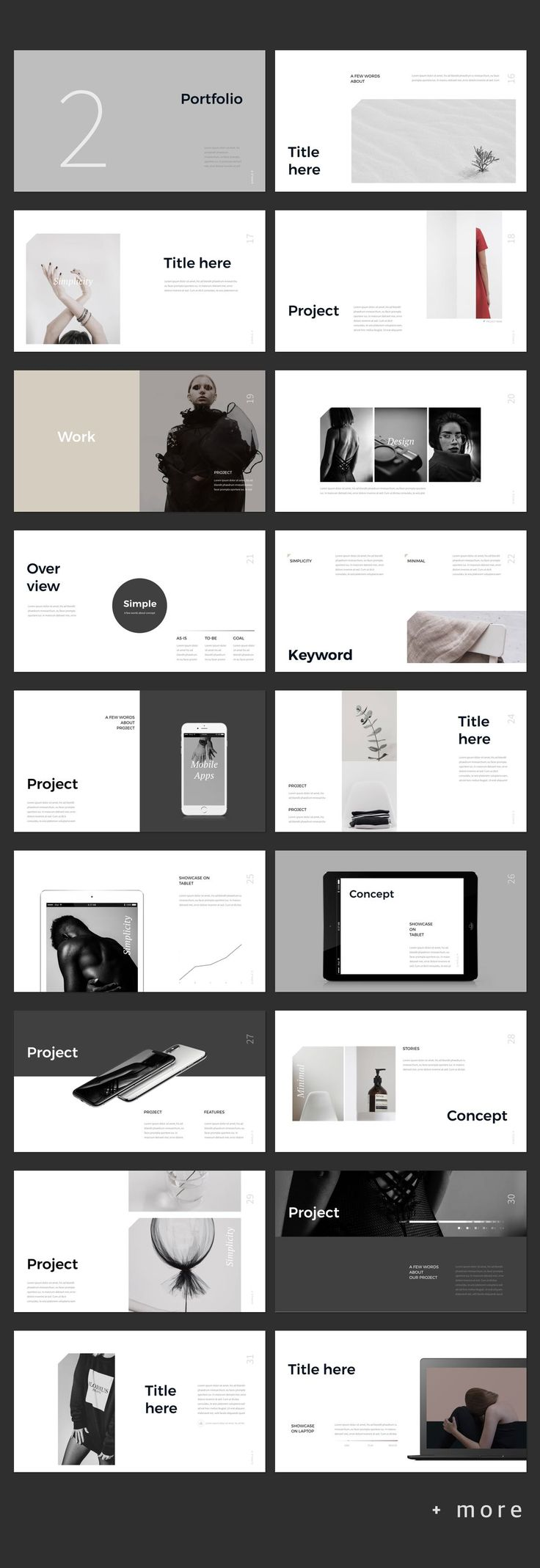 Simple P. Presentation Template #simple #presentation #ppt #template #portfolio #lookbook