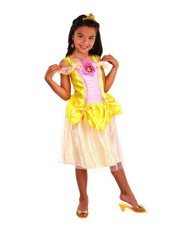 Love this Yellow Princess Belle Dress Up Outfit on #zulily! #zulilyfinds