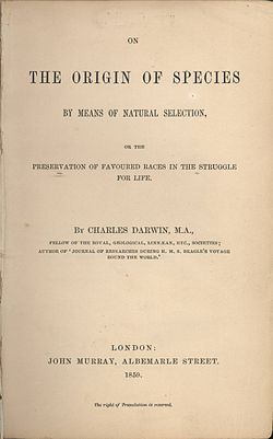 On the Origin of Species by Means of Natural Selection, by Charles Darwin. Everyone who has an opinion on Darwin's theory should read this book so they know what his theory really suggests.