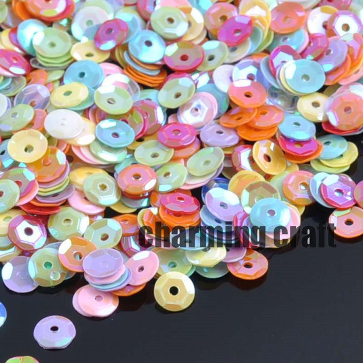 2000pcs 10 AB colors Round Sequin For Crafts&Paillette Sewing Scrapbooking lentejuelas 6mm About 33g CP0355