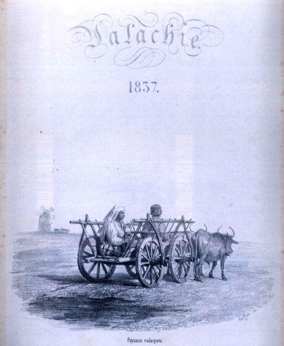 Grafică de carte. Valachie (Valahia) - pagina de titlu