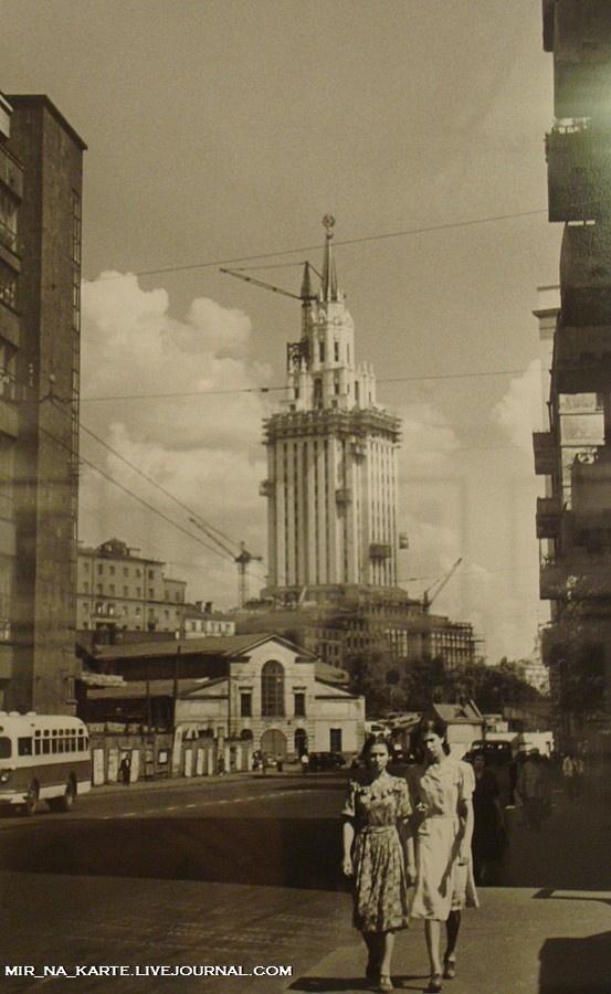 Leningrad Hotel skyscraper, Moscow, 1950s