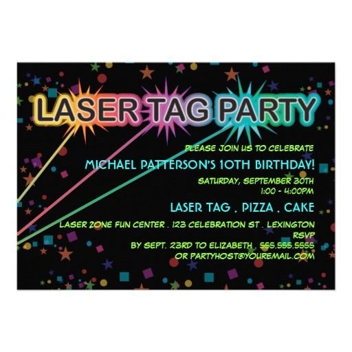 Einladungskarten geburtstag lasertag