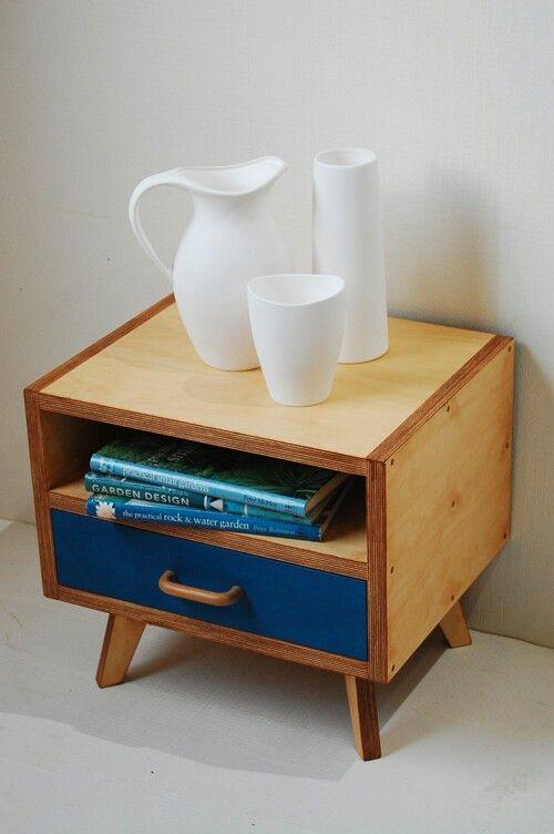 529 best cnc images on pinterest woodworking desks and for Plywood bedside table