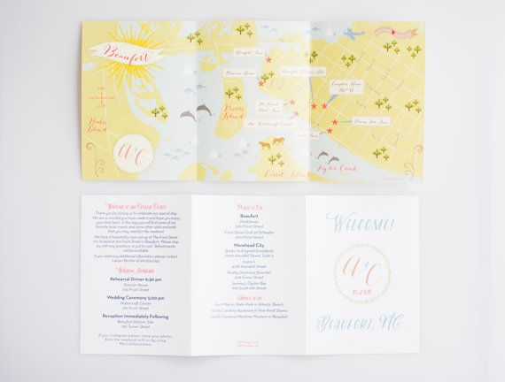 Custom Wedding Map with Itinerary, Wedding Map Invitation, Infographic, Wedding Directions (Tri-Fold) - Listing for Lauren O'Brien