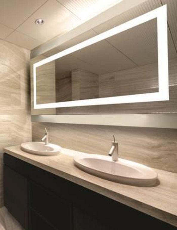 Modern Bathroom Mirror Lights Trendecors, Herman Modern Contemporary Beveled Bathroom Vanity Mirror