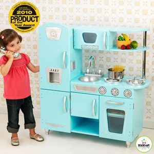 KidKraft Vintage Play Kitchen Set, Blue  oh man this color is awesome too!