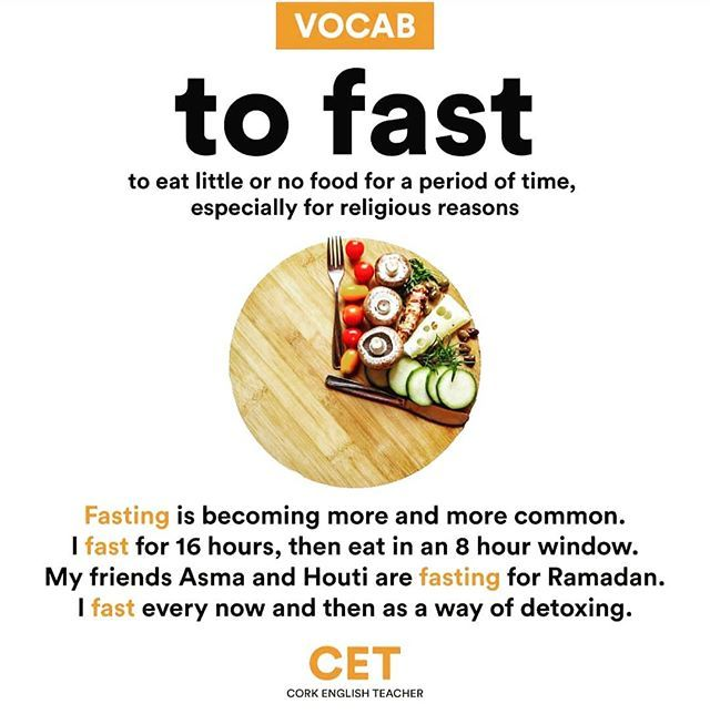Reussir En Anglais Sur Instagram Can You Guess The Meaning Of To Fast And Fasting Anglais Coursdanglais Parleranglais Cour Meant To Be Eat Food