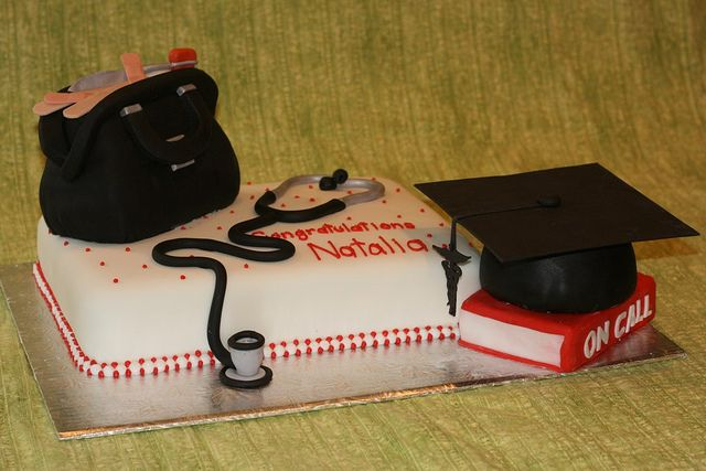 Medical School Graduation Cake