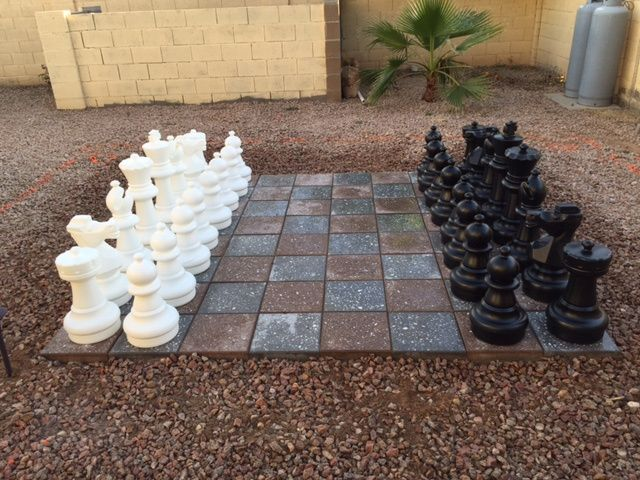 A Great Do It Yourself Chess Set Idea Sent In From A Customer. #diy