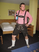 Ian in Lederhosen - Oktoberfest post