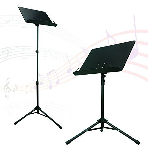 PARTYSAVING Orchestra Sheet Music Stand with Heavy Duty Black Metal Folding Design, APL1282 Music Conductor Stand Sheet Tripod Holder Folding Stage Material: Strong black durable steel Metal spring arm extensions hold music sheets securely in place https://hobbiesandcrafts.boutiquecloset.com/product/partysaving-orchestra-sheet-music-stand-with-heavy-duty-black-metal-folding-design-apl1282/