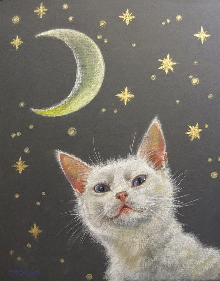 Custom CAT portrait by Canis Art Studio. Original pastel drawing. #cat #portrait #petportrait #art #original #pastel #drawing #painting #request #custom #canisartstudio #etsy
