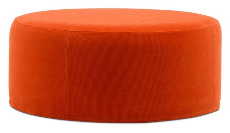 Round Orange Ottoman Accent Chair Pinterest