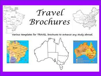 travel brochures and country research projects