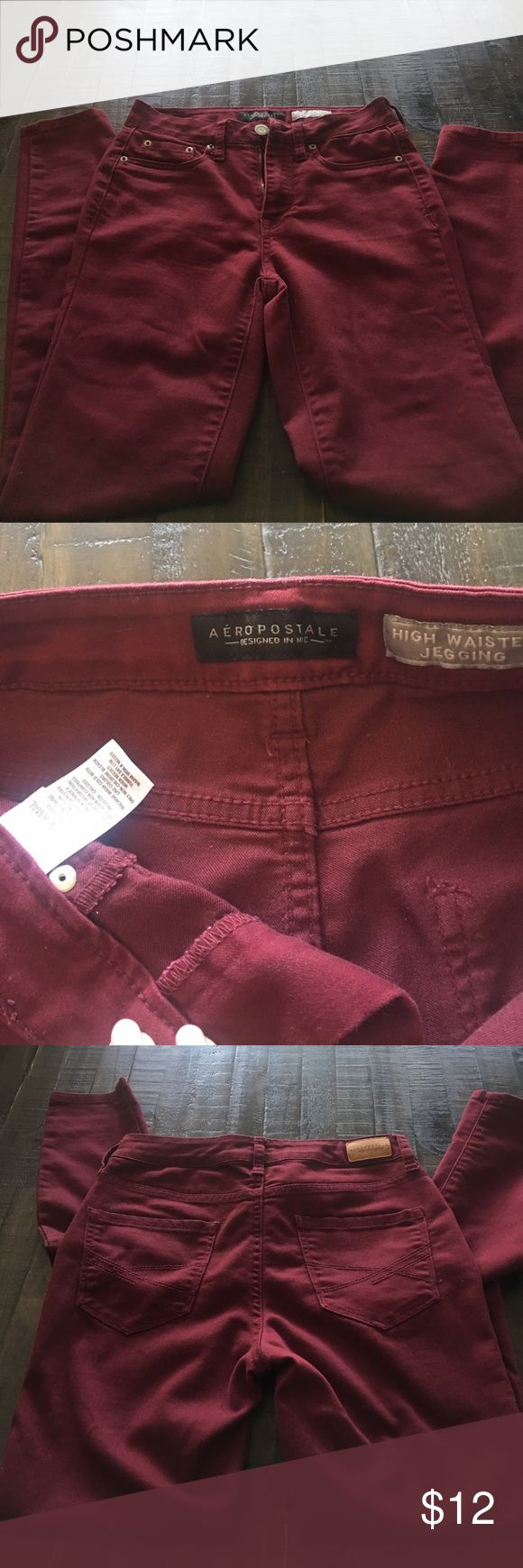 Aeropostale wine colored jeans Aeropostale skinny jeans. Wine colored. EUC! Worn only a couple times. Aeropostale Pants Skinny