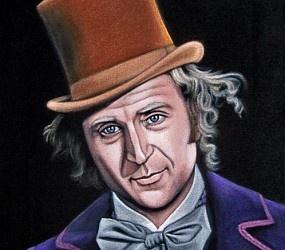 Wonka StyleArt Iii, Clever Stuff, Velvet Painting, Willis Wonka, Black Velvet, Wonka Velvet, Celebrities Art, Art Galleryツ, Velvet Art