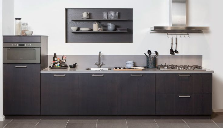 Steinhaus antraciet rechte keuken Farnia
