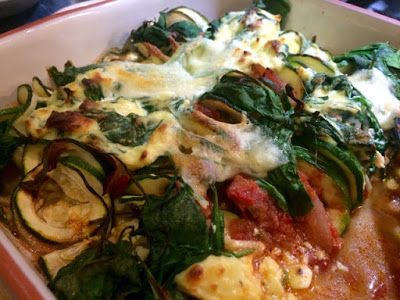Diary of a Sauce Pot: Spinach & Ricotta Courgetti Bake
