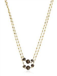 Angelo Di Spirito Rosa - Lemon Diamond Rosary Necklace | FashionJug.com