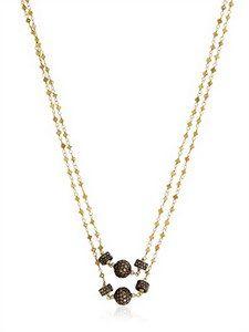 Angelo Di Spirito Rosa - Lemon Diamond Rosary Necklace | FashionJug.com
