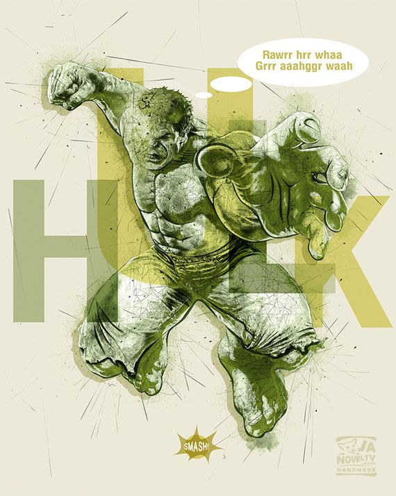 Hulk, Hulk poster, Superhero by JAnoveltyDeSign