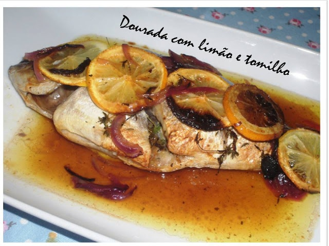 Sea bream in the oven with lemon and thyme